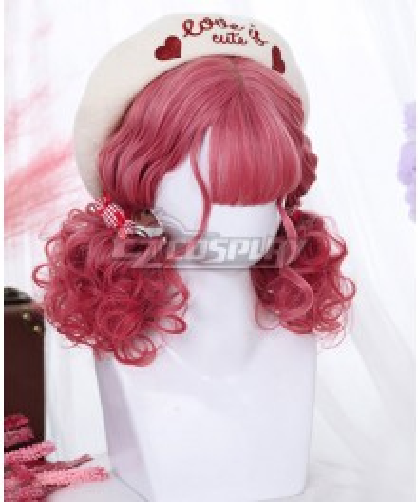 Japan Harajuku Lolita Series Strawberry Bear Pink Cosplay Wig