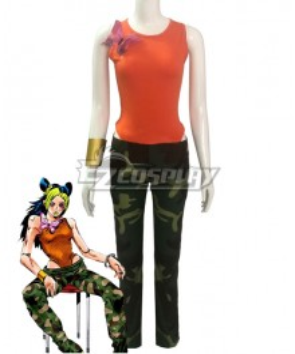 JoJo's Bizarre Adventure: Stone Ocean Jolyne Cujoh 14 Years Cosplay Costume
