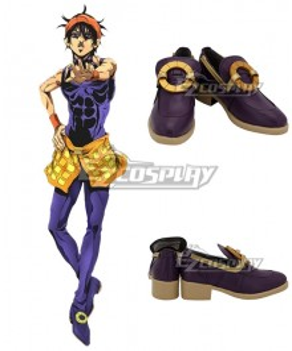 JoJo's Bizarre Adventure: Vento Aureo Golden Wind Narancia Ghirga Purple Cosplay Shoes