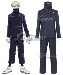 Jujutsu Kaisen Sorcery Fight Toge Inumaki Anime Ver. Deep Blue Cosplay Costume