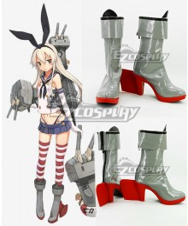 Kantai Collection KanColle Anime Destroyer Shimakaze White Cosplay Shoes