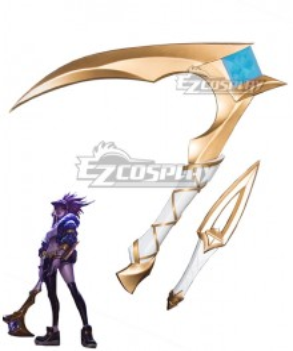 League Of Legends LOL KDA K/DA Akali Scythe and Dagger Cosplay Weapon Prop
