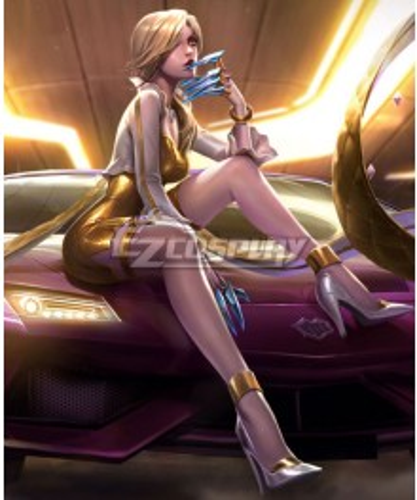 League Of Legends LOL KDA K/DA Evelynn Prestige Edition Cosplay Costume