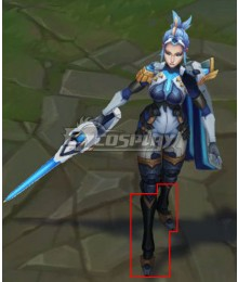League of Legends LOL Pulsefire Fiora Black Shoes Cosplay Boots