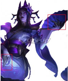 League of Legends LOL Spirit Blossom Cassiopeia Nails Cosplay Accessory Prop