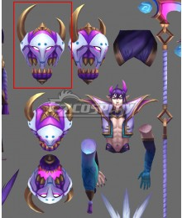 League of Legends LOL Spirit Blossom Thresh Mask Cosplay Accessory Prop