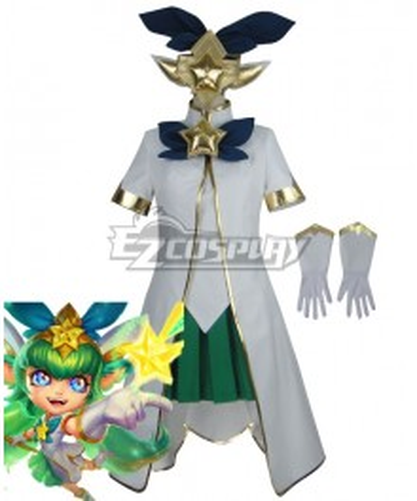League Of Legends LOL Star Guardian Lulu Cosplay Costume - B Edition