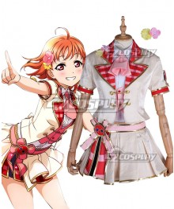 Love Live! Lovelive! School Idol Festival ALL STARS Honoka Kosaka Nico Yazawa Rin Hoshizora Chika Takami Mari Ohara Hanamaru Kunikida Red Cosplay Costume