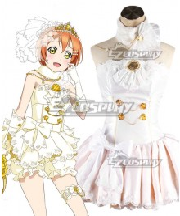 Love Live! Lovelive! Wedding Bride Dress Party Dress Rin Hoshizora Cosplay Costume