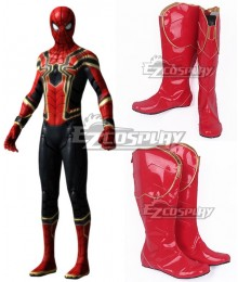 Marvel Avengers 3: Infinity War Spider Man Peter Parker Red Shoes Cosplay Boots