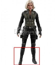 Marvel Avengers 3: Infinity War Black Widow Natasha Romanoff Black Shoes Cosplay Boots