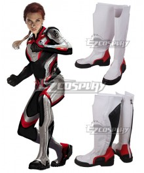Marvel Avengers:Endgame Avengers Black Widow White Shoes Cosplay Boots