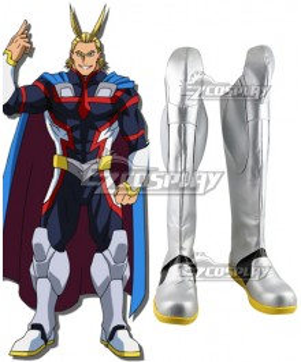 My Hero Academia Boku no Hero Akademia All·Might Silver Shoes Cosplay Boots