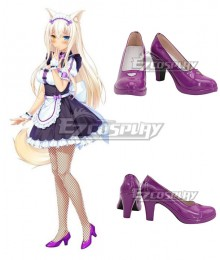 Nekopara Coconut Purple Cosplay Shoes