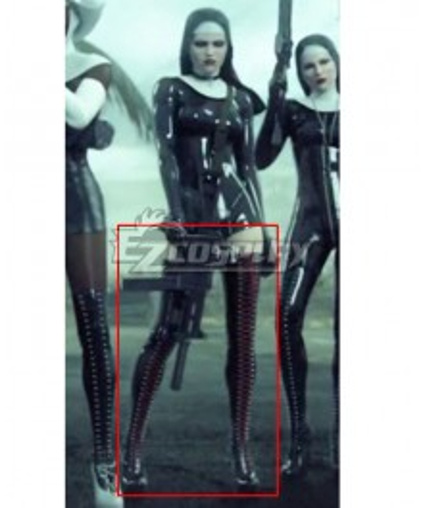 Nun Hitman 5: The Saints Heather McCarthy Black Shoes Cosplay Boots