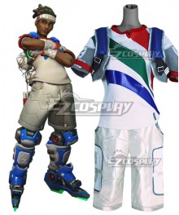 Overwatch OW Lucio DJ Summer Games Striker Cosplay Costume