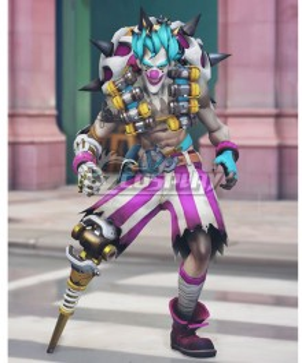 Overwatch OW New Clown Junkrat Cosplay Costume