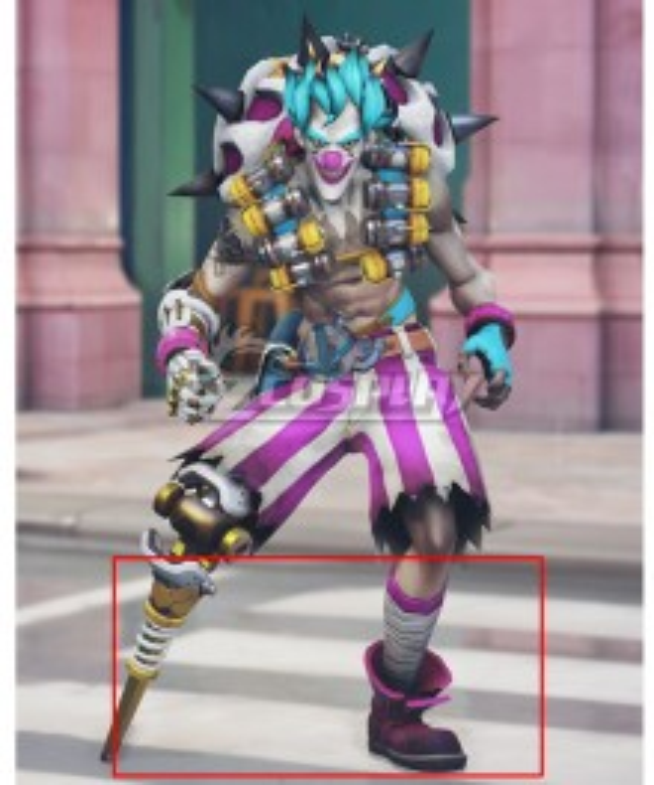 Overwatch OW New Clown Junkrat Purple Cosplay Shoes