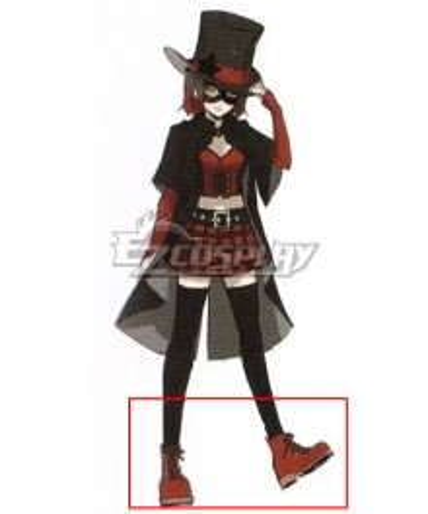 Persona 5 Scramble: The Phantom Strikers Akane Hasegawa King Red Cosplay Shoes