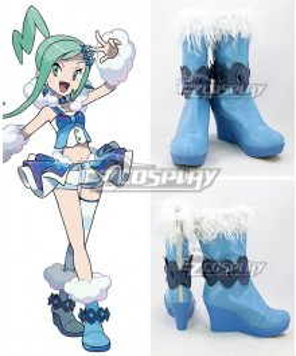 Pokémon Pokemon Lisia Blue Cosplay Shoes