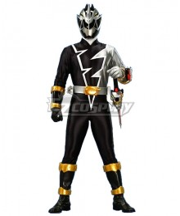 Power Rangers Dino Fury Black Ranger Cosplay Costume
