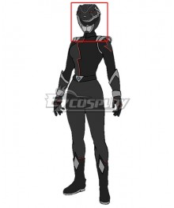 Power Rangers HyperForce HyperForce Black Helmet Cosplay Accessory Prop