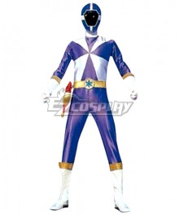 Power Rangers Lightspeed Rescue Blue Lightspeed Ranger Cosplay Costume