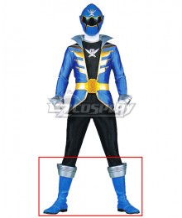 Power Rangers Super Megaforce Super Megaforce Blue Blue Shoes Cosplay Boots