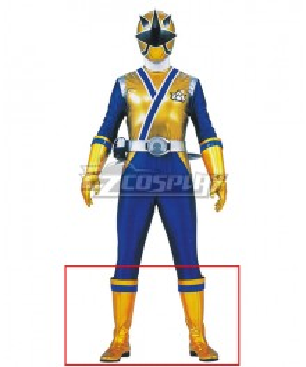 Power Rangers Samurai Gold Samurai Ranger Golden Shoes Cosplay Boots
