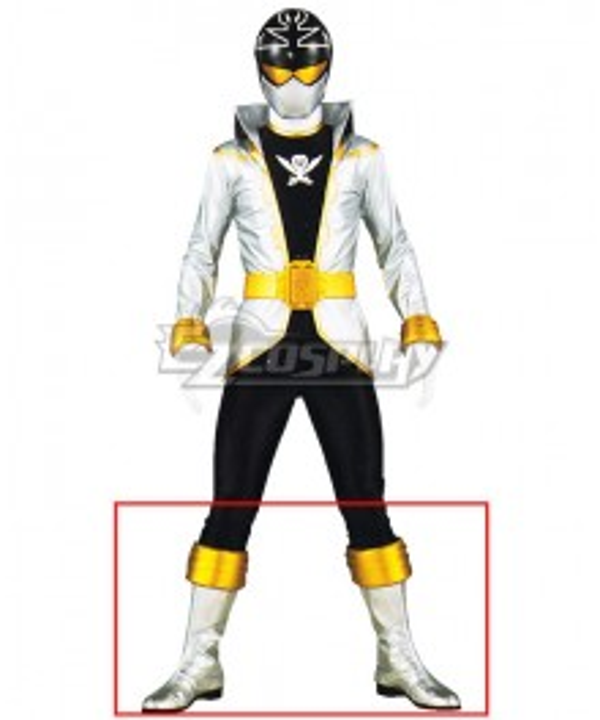 Power Rangers Super Megaforce Super Megaforce Silver Silver Shoes Cosplay Boots