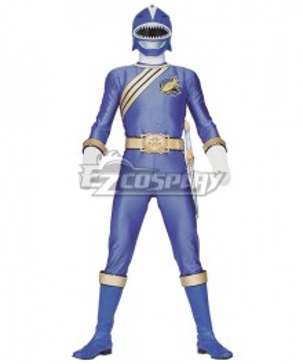 Power Rangers Wild Force Blue Wild Force Ranger Cosplay Costume