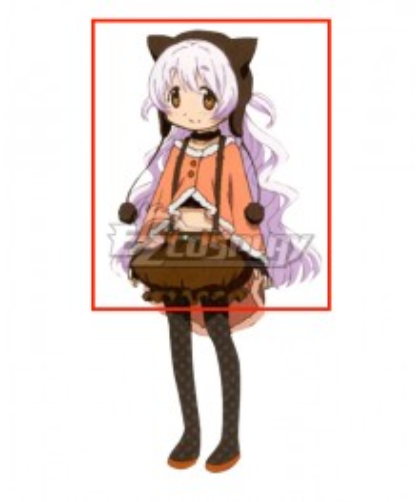 Puella Magi Madoka Magica the Movie: Rebellion Nagisa Momoe Charlotte Bebe White Cosplay Wig