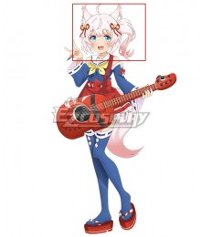 SHOW BY ROCK!! Mashumairesh!! Howan White Pink Cosplay Wig