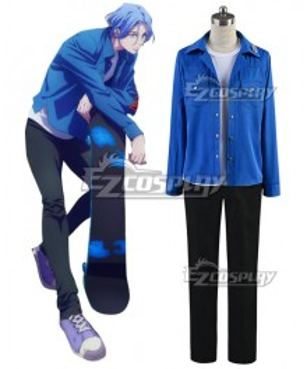 SK8 the Infinity SK∞ Langa Blue Cosplay Costume