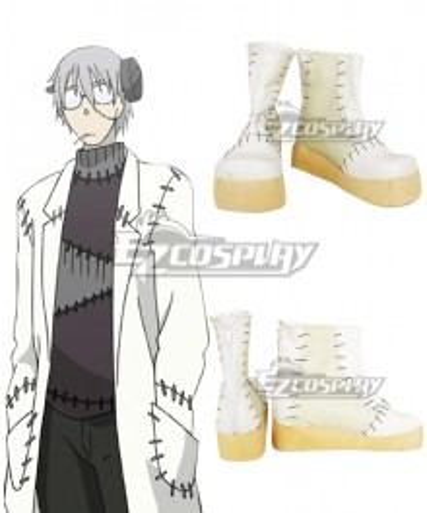 Soul Eater: Monotone Princess Franken Stein White Cosplay Shoes