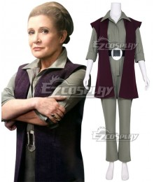 Star Wars Episode 7 The Force Awakens General Leia Organa Cosplay Costume