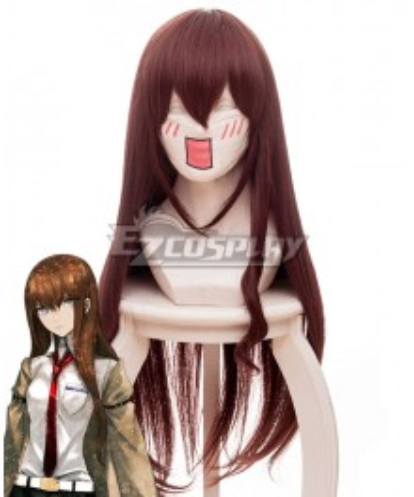 Steins;Gate 0 Kurisu Makise Red Brown Cosplay Wig 464A