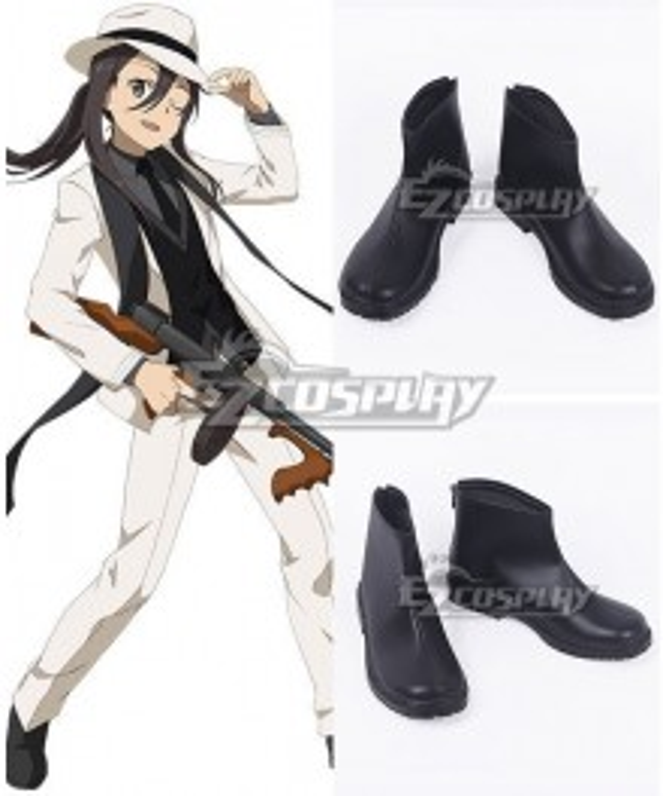 Sword Art Online Kirigaya Kazuto Kirito Black Cosplay Shoes