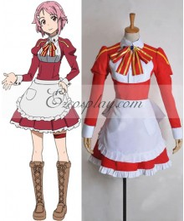 Sword Art Online Lisbeth Rika Shinozak Cosplay Costume