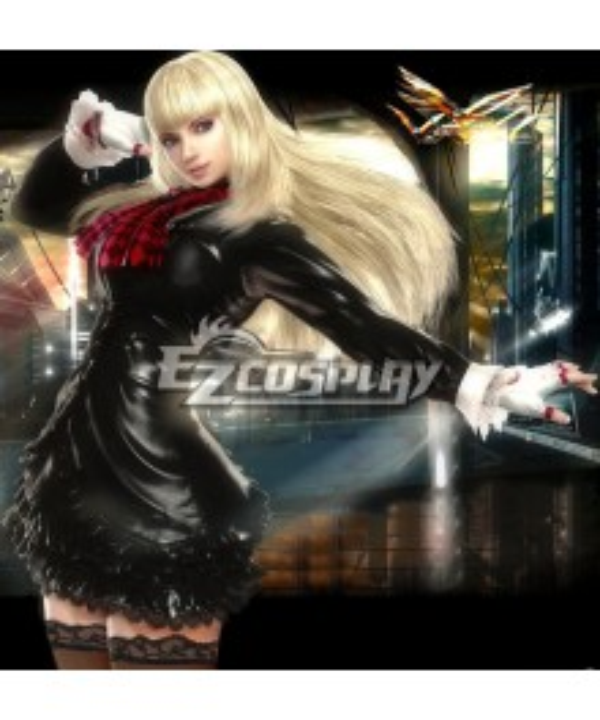 Tekken Lili Black Dress Cosplay Costume