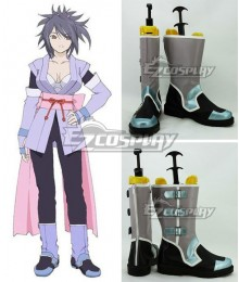 Tales of Symphonia Sheena Fujibayashi Gray Green Black Cosplay Shoes