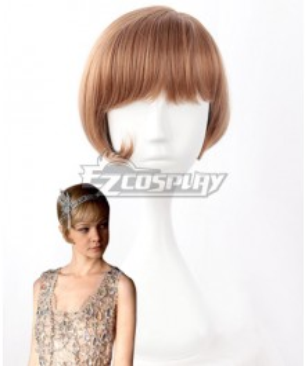The Great Gatsby Daisy Buchanan Brown Cosplay Wig