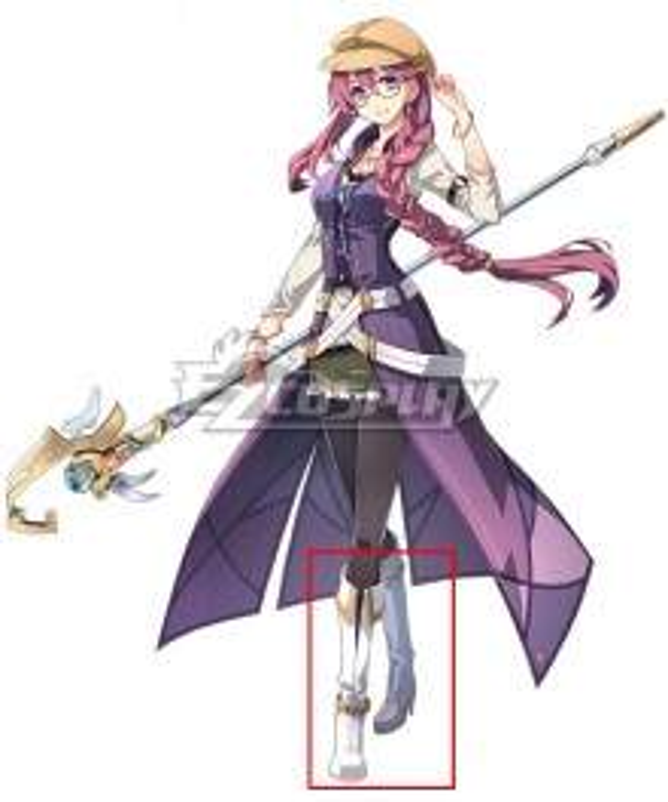 The Legend of Heroes - Hajimari no Kiseki Emma Millstein Silver Shoes Cosplay Boots