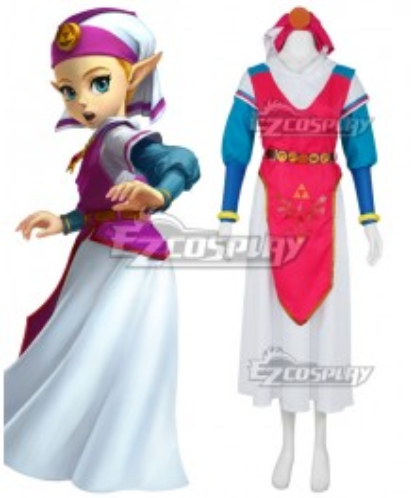 The Legend Of Zelda: Ocarina Of Time Princess Zelda Young Zelda Cosplay Costume