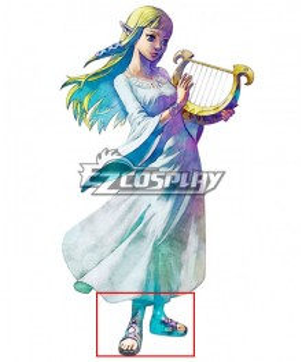 The Legend of Zelda: Skyward Sword Princess Zelda Goddess Hylia Purple Cosplay Shoes