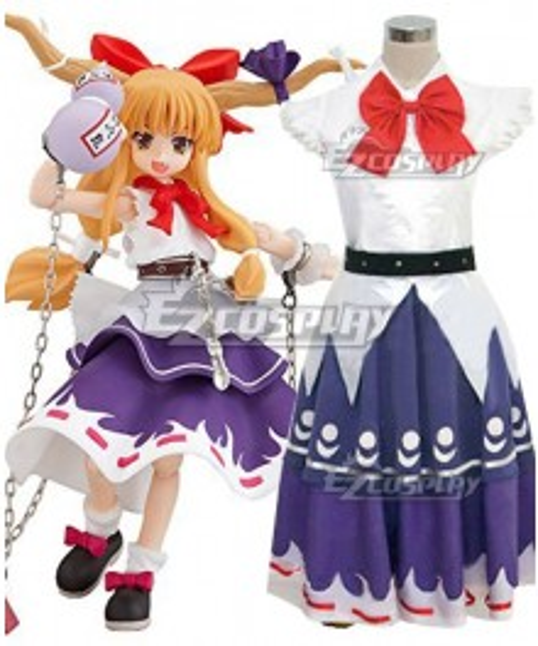 Touhou Project Ibuki Suika Cosplay Costume