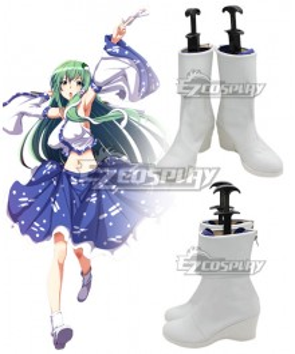 Touhou Project Kochiya Sanae White Cosplay Shoes