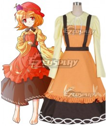 Touhou Project Mountain of Faith Minoriko Aki Cosplay Costume