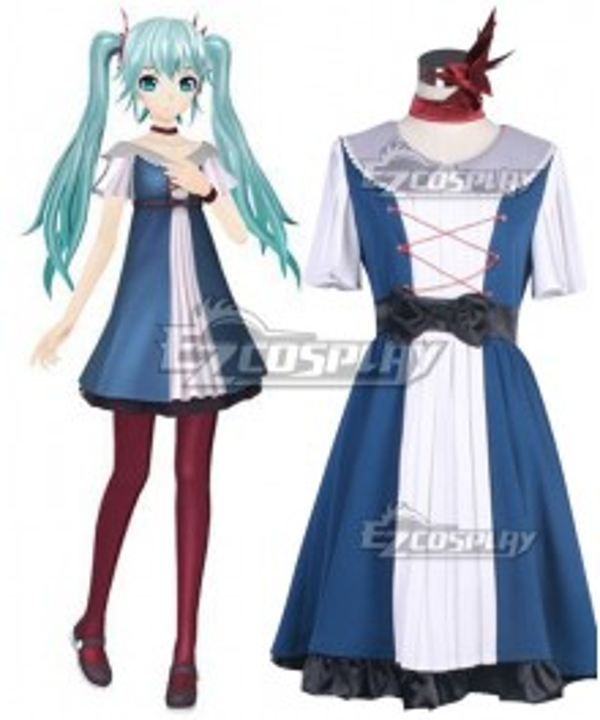 Vocaloid Hatsune Miku Karakuri Pierrot Halloween Cosplay Costume