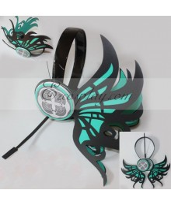 Vocaloid Miku Copslay Pteris Green Prop Headset